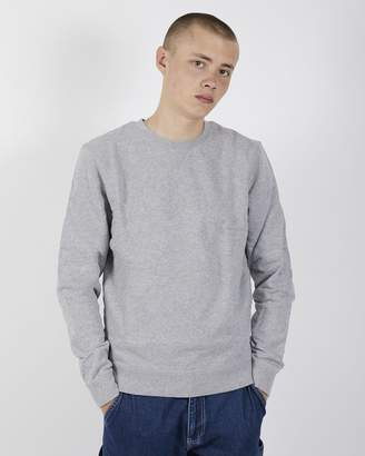 Sunspel Cotton Loopback Sweatshirt Grey