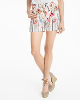 White House Black Market 5-inch Floral Printed Shorts