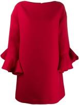 Valentino trumpet-sleeve shift dress