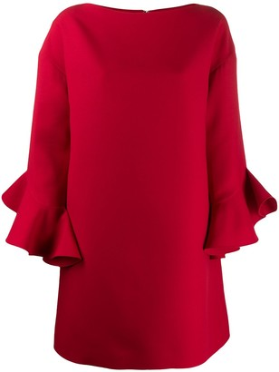 Valentino trumpet-sleeve shift dress