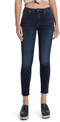 Mother Looker High Waist Ankle Skinny Jeans