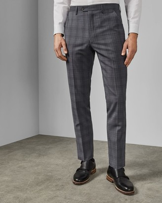 Ted Baker Debonair Wool Check Trousers