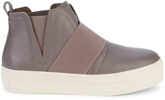 J/Slides Leather Platform Slip-On Sneakers