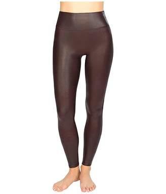 Spanx Faux Leather Leggings (Wine) Women's Casual Pants