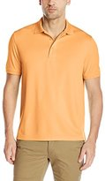 G.H. Bass Men's Short Sleeve Explorer Fish Tale Solid Mesh Polo