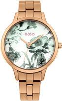 "Oasis Floral Bracelet Watch [span class=""variation_color_heading""]- Antique Gold[/span]"