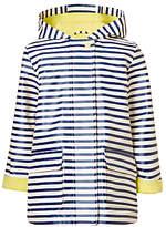John Lewis Girls' Stripe Raincoat, Navy