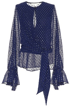 Jonathan Simkhai Embellished chiffon blouse