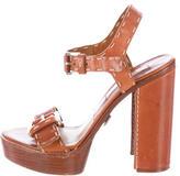 Michael Kors Janey Leather Platform Sandals