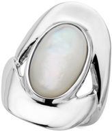 Nambe Mother-of-Pearl Oval Ring in Sterling Silver, Created for Macy's