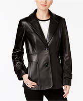 Jones New York Leather Blazer Jacket