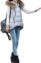 OMEYA.WANSHIDA.Women Winter Faux Fur Hooded Down Vest Jacket Coat 2XL