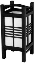 "Oriental Furniture 14"" Akida Lamp, Black"