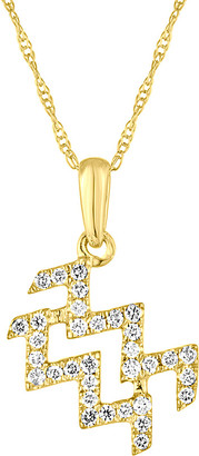 Sabrina Designs 14K 0.20 Ct. Tw. Diamond Zodiac Sign Necklace