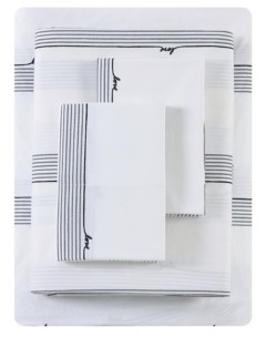 ED Ellen Degeneres Love Lines Stripe Percale Full Sheet Set Bedding