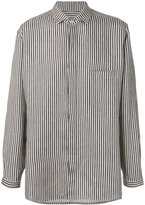 Yohji Yamamoto woven stripe shirt - men - Linen/Flax - S