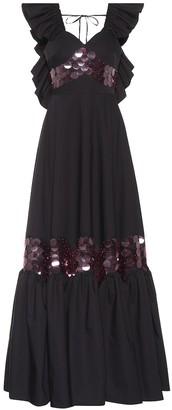Huishan Zhang Ruffled paillette dress