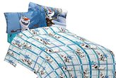 Disney Frozen Olaf Build a Snowman Microfiber Sheet Set, Twin