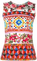 Dolce & Gabbana Mambo print tank top - women - Silk/Cotton/Spandex/Elastane - 44