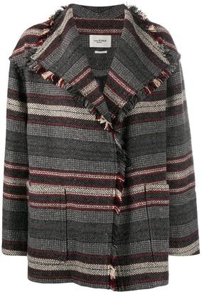 Etoile Isabel Marant Josia striped knit coat