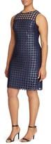 Lauren Ralph Lauren Plus Size Women's Metallic Geo Lace Sheath Dress