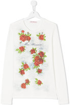 Miss Blumarine rose print longsleeved T-shirt