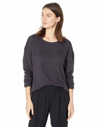 Majestic Filatures Women's Cotton/Cashmere Blend Double-Face Crew Neck Pullover