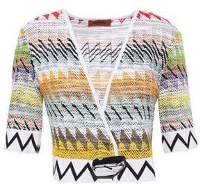 Missoni Cropped Boucle-knit Cotton-blend Top