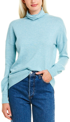 Forte Cashmere Gathered Sleeve Cashmere Sweater
