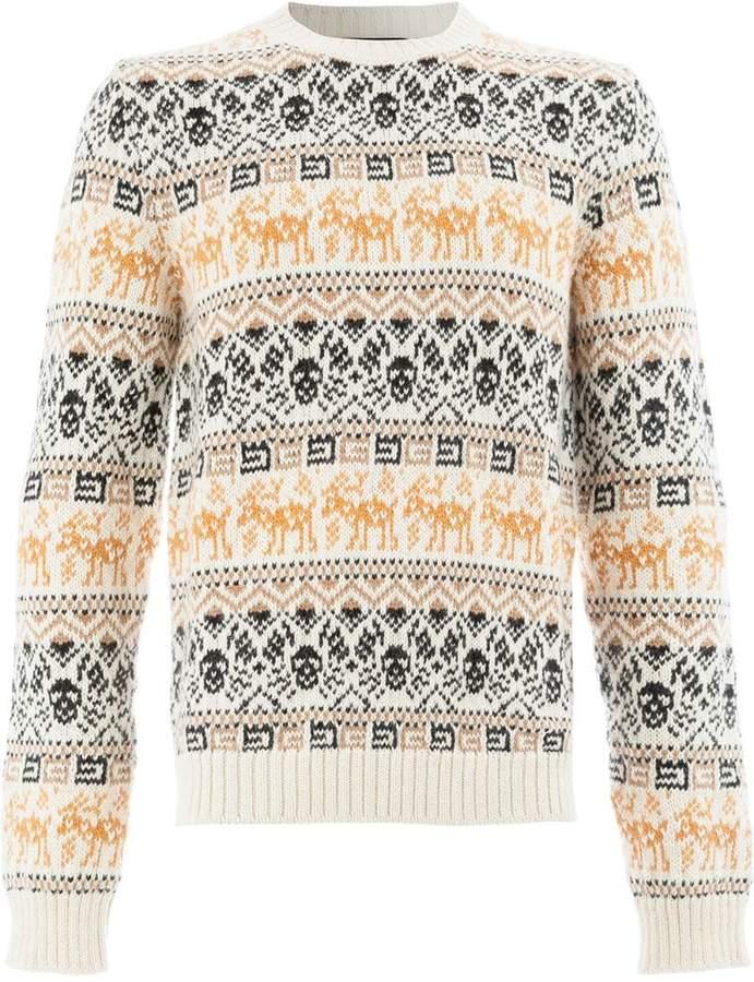 Gucci jacquard knit sweater