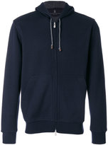 Brunello Cucinelli zipped hoodie - men - Cotton/Polyamide/Cashmere - M