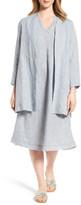 Eileen Fisher Long Organic Linen Jacket (Regular & Petite)