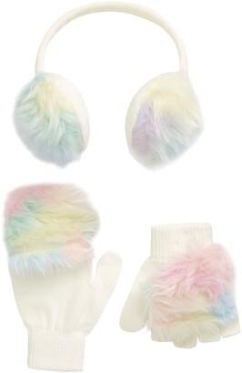 Capelli New York Ombre Faux Fur Earmuffs & Gloves Set