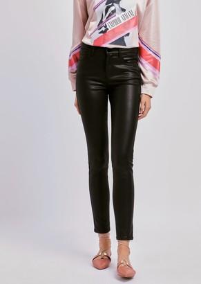 Emporio Armani Super Skinny J20 Jeans In Coated Gabardine