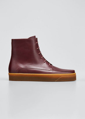 Gabriela Hearst Williams Calf Leather Lace-Up Boots