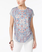 Style&Co. Style & Co Foiled Graphic Top, only at Macy's