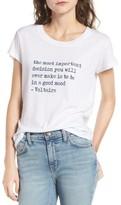 Zadig & Voltaire Women's Skinny Slub Bis Graphic Tee