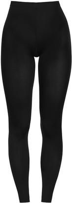 Wolford Velvet 66 Black Stretch-jersey Leggings