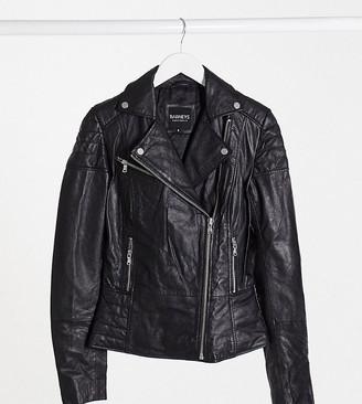 Barney's Originals Tall Clara real leather biker jacket