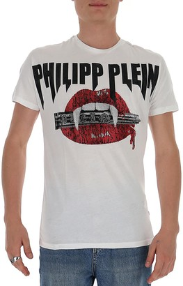 Philipp Plein Embellished Vampire Print T-Shirt