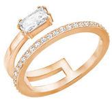 Swarovski Gray Crystal & 18K Rose Gold-Plated Ring