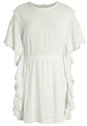 IRO Serenity Lace-Trim Ruffle Cotton Dress