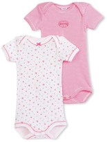 Petit Bateau Set of 2 baby girls striped/printed bodysuits