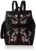 Miss Selfridge Womens Embroidered Backpack Handbag