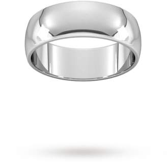 Palladium Goldsmiths 7mm D Shape Standard Wedding Ring In 950