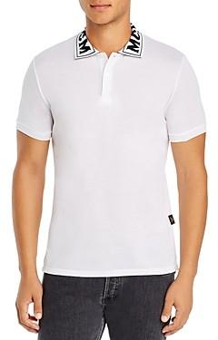 MCM Logo-Collar Pique Polo Shirt