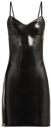 Lisa Marie Fernandez Tank Pvc Mini Dress - Womens - Black