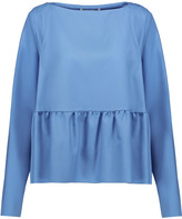 Antonio Berardi Gathered wool-twill top