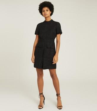 Reiss JENNY TWEED MINI DRESS Black