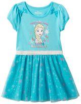 Disney Disney's Frozen Elsa Toddler Girl Snowflake Mesh Skirt Dress